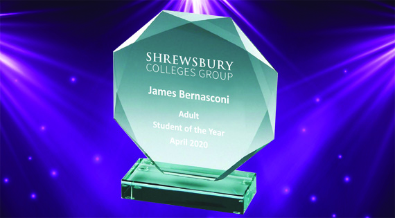 SCG Awards trophy for James Bernasconi