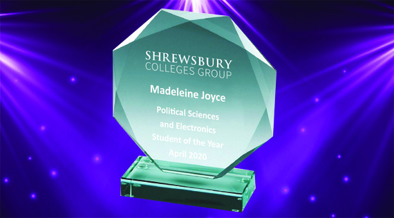 SCG Awards trophy for Madeleine Joyce