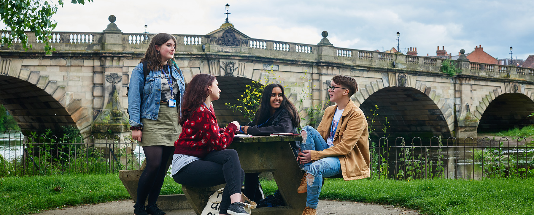 Students in Abbey Gardens