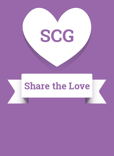share the love heart graphic and scroll