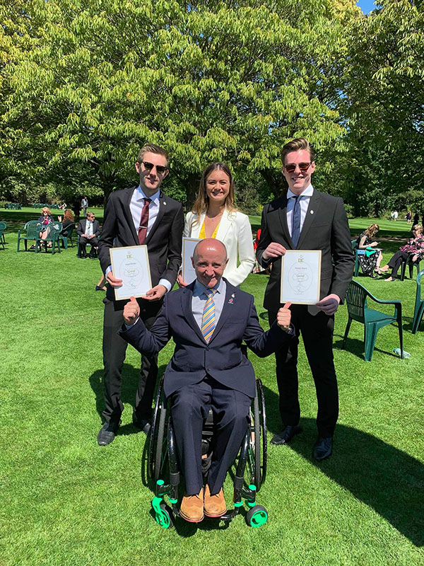 Shrewsbury students DofE gold with paralympian
