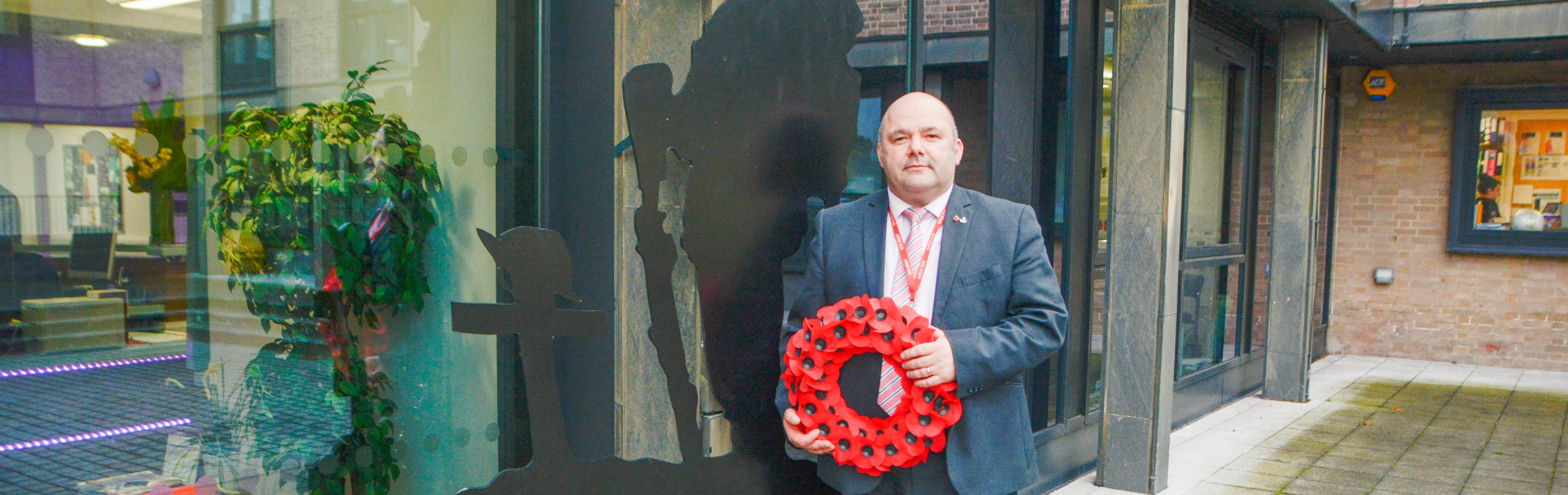 Ex-Soldier hand makes Remembrance Day silhouettes
