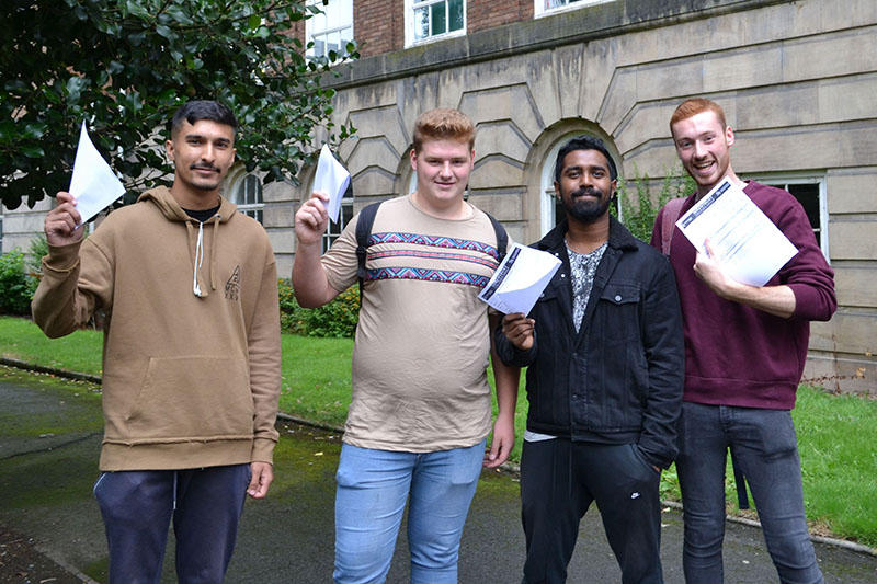 Shrewsbury Students getting A Level results