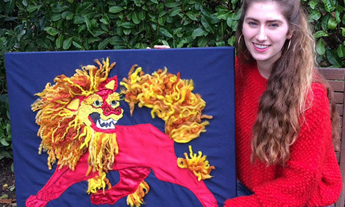College Students win In Textile Design Competition